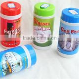 household cleaning wet wipe in tube canister, tissue, cleaning cloth towel, China factory