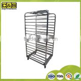 16 Layers Factory Manufacture Kitchen Equipment Bakery Cheap Rotary Oven Rack Stainless Steel Trolley