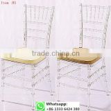 Quality factory supply transparent clear resin acrylic wedding chiavari chair for wedding item: R1#