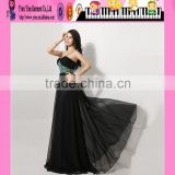 High Quality Sexy Elegant Black Evening Dress Wholesale Woman Clothing Latest New Design Elegant Black Evening Dress