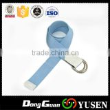 Web Customized Blue Canvas Belt With Printed Logo