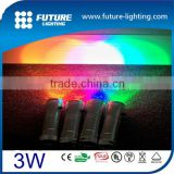 2 days delivery battery powered AAA 3W multi color RGB Color changing flash and strobe ultrafire led flashlight