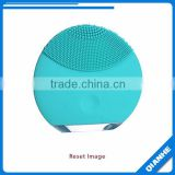 blue silicone wash face massage cleansing brush