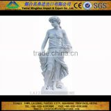 2013 hotsale nude girl white marble statue