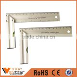 Aluminium square with level bubble L Shaped Try Square angel Ruler