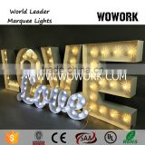 LED waterproof illuminated love light up letters wedding decoration letter lights