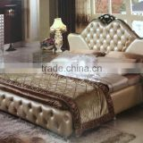 2015 Master king size leather bedroom furniture set / home bedroom furniture YC107 YC107