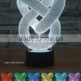 Desktop 3d illusion decorative USB night lamp color changing night light