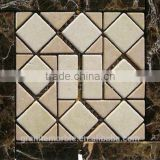 High Quality Brown Marble Mosaic Tiles For Bathroom/Flooring/Wall etc & Mosaic Tiles On Sale With Low Price