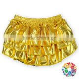 Cheap Gold Bling Sparkle Baby Sequin Shorts Ruffled Baby Sleepy Diaper Bloomer Panties For Kids Wholesale Baby Ruffle Bloomers