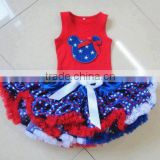 RED tank top kaiya skirt sets 4th Of July patriotic girls clothing