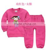 hot sale custom OEM cute baby boys hoodies +pants,100% cotton spring or autumn baby girls wear outfits
