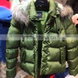 COUTUDI 2016 custom top brand kids winter clothes paint disposable lab fur coat for wholesale