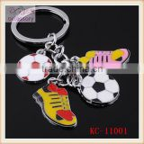 Lovely football shaped key chain,delicate key chain with football boots pendant