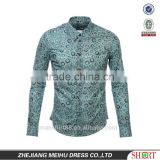 2017 latest fashion wooden button printed tuxedo shirt