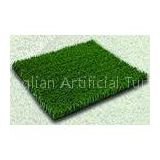 Roof Plastic 15mm 4500Dtex Balcony Artificial Turf Grass Olive Green , Weather resistance