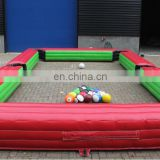 Adult inflatable soap soccer field for sale/inflatable football field for cricket sport game/Inflatable foosball field