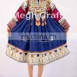 Vintage Afghani gypsy dress - Handmade beaded Tassels -Vintage bohemian full skirt - Kuchi Dress