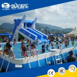 Giant inflatable water slide for adult, used swimming pool slide, large inflatable dry slide