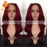 New Arrival U part Red Wig With Middle U shape Remy Indian Human Hair Bug Color Body Wave Hair Wig