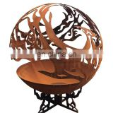 Corten Steel Fire Pit Sphericity Bowl