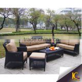 Outdoor waterproof rattan furniture 7 seater sofa set with cushion