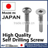 Best-selling and High quality square drive self tapping screws for industrial use made in Japan