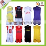 newest 3D sublimated fashion basketball team uniform, brazil basketball jersey
