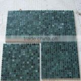 High quality polished big flower green marble mosaic tile