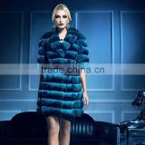 QD30092 Online Clothing Store Sexy Adult Woman Clothes Prices Chinchilla Fur Coat Latest Women Clothes Fashion Woman Coat 2014