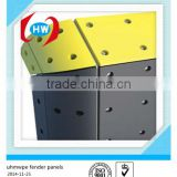 HDPE plastic marine fender pads/ flat fender for ship/ rubber fender facing pad