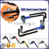 "BJ-LG-003 Aftermarket Blue Bent Style 7/8"" 22mm CNC Motorcycle Lever Guard"