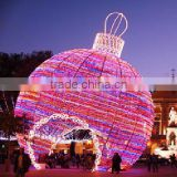 Outdoor led christmas ball decoration lighting ball big sphere archway for street decoration