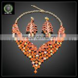 Wholesale fashion jewelry 2016 fashion jewelry crystal jewelry set kHK711