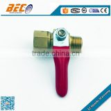 Copper material standard male and female brass ball valve for low gas pressure