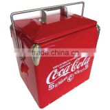 factory price COKE large retro metal cooler box                                                                         Quality Choice