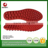 soft and flexable red color rubber outsoles