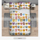 2016 fashion emoji 3D print bedding set soft home textile four season collection colorful print sweet printing