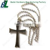 Antique Chain hanged metal cross necklace for men