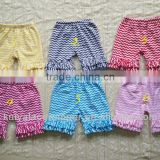 Chevron items!Wholesale chevron shorts with cotton ruffles zig zag pattern baby shorts for baby