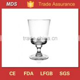 Wholesale single champagne glass footed long stem flower vase