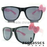 Cheap Promotion frame/Sunglasses/eyewear Factory Custom Lens cute bowknot sunglasses printing logo OEM