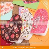 Alibaba Website New Design Handmade Heart Shape Greeting Card