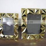 high end metal 3D geometric characteristic golden photo frame photos pictures stand displays