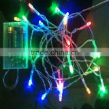 LED battery light 3M 30LEDS Christmas string Christmas lights holiday lights/wedding/road LED decoration lamp series battery
