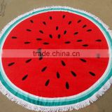 watermelon shaped round beach towel with low price