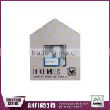 House Shape MDF Wall Photo Frame With Paper Printing 4x4""