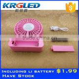 Cute mini mobile phone usb high speed mini fan mini handheld battery operated pocket fan