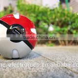 New hot sale portable lithium polymer battery pokemon poke ball power bank charger with key chain                                                                         Quality Choice                                                                     Su