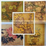 China Waterproof Silky Satin Cloth canvas painting on stretcher